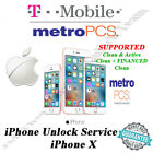 """T-MOBILE/METRO PCS USA iPhone X OFFICIAL UNLOCK SERVICE """"EXPRESS"""" 1 - 5 DYS"""