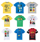 Boys Kids Official Various Lego Short Sleeve T Tee Shirt Top 4 - 10 Years