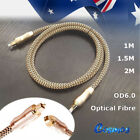 Gold Optical Digital Audio Cable OD6.0 Male To Male 7.1 5.1 1M 2M Toslink SPDIF