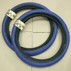 "PAIR OF FIT BIKE CO BMX T/A 20 X 2.40"" BICYCLE TIRES BLUE 110 PSI PRIMO CULT"