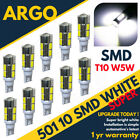 T10 501 W5w Car Side Light Bulbs 10 Smd Led Smd Xenon Hid Capless Power White