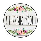 Thank You Stickers Rustic Flowers Country Gray 48/96/144 Envelope Seals