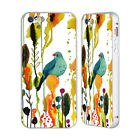 OFFICIAL SYLVIE DEMERS BIRDS 2 SILVER BUMPER SLIDER CASE FOR APPLE iPHONE PHONES