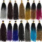 Water Wave Ombre Crochet Braids Synthetic Braiding Hair Bulk Extensions as human