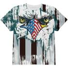 Patriotic Eagle of Philly All Over Youth T Shirt