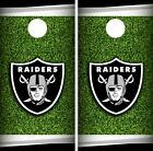 Oakland Raiders Field Cornhole Wrap NFL Game Board Skin Set Vinyl Decal CO102 $39.95 USD on eBay