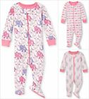childrens footed pajamas - NWT The Childrens Place Elephant Girls Stretchie Footed Sleeper Pajamas 2 3 4 5