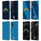 OFFICIAL NFL 2017/18 LOS ANGELES CHARGERS LEATHER BOOK CASE FOR SAMSUNG PHONES 1