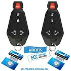 2 Car Key Keyless Remote 5B For 2008 2009 2010 2011 Chrysler Town and Country