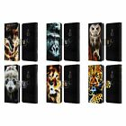 HEAD CASE DESIGNS WILDFIRE LEATHER BOOK WALLET CASE COVER FOR SONY PHONES 1