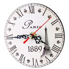 Vintage Wooden Wall Clock Time Shabby Chic Kitchen Home Antique Wedding Decor