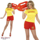 4FANCY DRESS COSTUME # LADIES 80s BAYWATCH CASUAL FEMALE OUTFIT SIZE 8-18