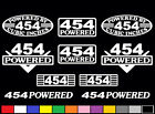 10 DECAL SET 454 CI V8 POWERED ENGINE STICKERS EMBLEMS 7.4 BBC RAT VINYL DECALS