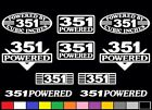 10 DECAL SET 351 CLEVELAND MODIFIED WINDSOR V8 POWERED EMBLEM STICKERS