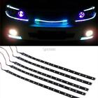 10x 15 LED 30cm Car Auot Trucks Grill Flexible Waterproof Light Strips 2 Color D