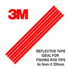 3M Scotchlite Reflective Rod Tip Tape, 6 Strips 5mm x 200mm - Fishing UK (Red)