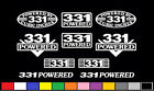 10 DECAL SET 331 CI V8 POWERED ENGINE STICKERS EMBLEMS 5.0 302 GT STROKER DECALS