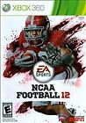 xbox 360 e case - NCAA Football 12 Xbox 360 2011 Video Sports Game Disc and Case Rated E
