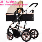 3 Types Folding Pram Luxury High View Baby Stroller Newborn Carriage Infant Car
