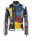 Mens Fashion Jackets Silver Studded Real Cow Hide Soft Leather Slim Fit Jackets