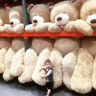 Внешний вид - HUGE GIANT TEDDY BEAR HIGH QUALITY COTTON PLUSH LIFE SIZE STUFFED ANIMAL80-340CN