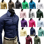 Stylish Men Long Sleeve Luxury T-Shirt Formal Blouse Casual