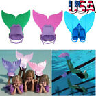 Kids Teens Swimmable Mermaid tails Monofin Mono Fin Flippers Swimming Costumes