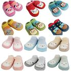 2 Pairs Baby Boys Girls Non-slip Slippers Pram Shoes Socks 6 12 18 24 Months
