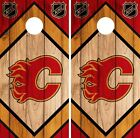 Calgary Flames Cornhole Wrap NHL Game Board Skin Set Vinyl Decal CO184 $39.95 USD on eBay
