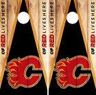 Calgary Flames Cornhole Wrap NHL Game Board Skin Set Vinyl Decal Decor Art CO188 $39.95 USD on eBay