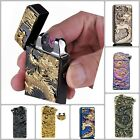 Torch Windproof Survival Engraved Pocket Zippo Lighters Chin