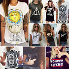 Women's Summer Loose T-Shirts Short Sleeve Casual Tops Blouse Plus Size Tee US