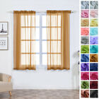 Sheer Organza 52 x 64-Inch Window Drapes Curtain 2 Panels Home Party Wedding