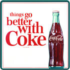 Things Go Better With Coke Coca-Cola 1960s Wall Decal Restaurant Kitchen Decor $48.99  on eBay