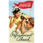 Coca-Cola Boating Refreshment Ahead 1950s Wall Decal Vintage Style Coke $9.99  on eBay