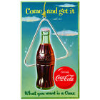 Coca-Cola Come and Get It Wall Decal Vintage Style Coke $19.99  on eBay