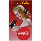 Coca-Cola Have a Coke Red Dress Lady Wall Decal Vintage Style