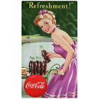 Coca-Cola Refreshment Girl with Cart Wall Decal Vintage Style