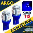 Bright Smd Led Xenon Power Side Light 501 W5w 158 168 T10 Super Ice Blue Bulbs