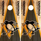 Pittsburgh Penguins Cornhole Wrap NHL Logo Game Skin Set Vinyl Decal Decor CO263 $39.95 USD on eBay