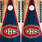 Montreal Canadiens Cornhole Wrap NHL Game Board Skin Set Vinyl Decal Decor CO304 $39.95 USD on eBay