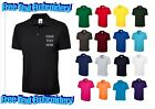 Personalised Custom Embroidered Workwear, Uneek Polo Shirts UC101, Free Text!