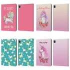HEAD CASE DESIGNS SASSY UNICORNS LEATHER BOOK WALLET CASE COVER FOR APPLE iPAD