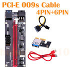 PCI-E 6pin 4-pin Power Splitter Cable PCIE PCI 1X to 16X Express 009s Up Lot Hl
