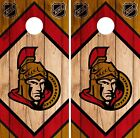 Ottawa Senators Cornhole Wrap NHL Game Board Skin Set Vinyl Decal CO307 $39.95 USD on eBay