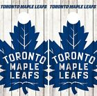 Toronto Maple Leafs Cornhole Wrap NHL Logo Game Board Skin Set Vinyl Decal CO324 $59.95 USD on eBay