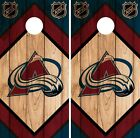 Colorado Avalanche Cornhole Wrap NHL Game Board Skin Set Vinyl Decal CO333 $39.95 USD on eBay