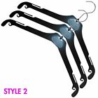 42CM PLASTIC BLACK STRONG HEAVY DUTY COAT HANGERS JACKETS COATS GARMENTS DRESSES