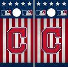 Cleveland Indians Cornhole Wrap MLB America Game Skin Set Vinyl Decal CO385 on Ebay