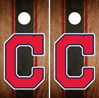 Cleveland Indians Cornhole Wrap MLB Game Board Skin Set Vinyl Decal Art CO389 on Ebay